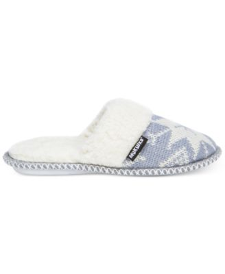 Muk Luks Womens Fair Isle Knit Scuff S..