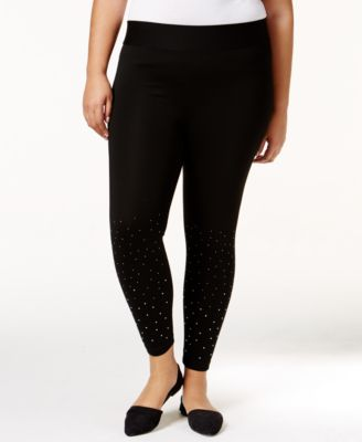 Belldini Plus Size Embellished Leggings