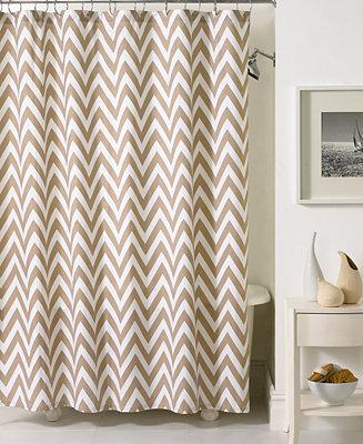 Kassatex Bath Accessories Chevron Shower Curtain Shower Curtains Bed Bath Macy 39 S