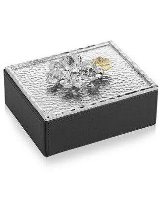 Michael aram clover jewelry box macy 39 s for Macy s standing jewelry box
