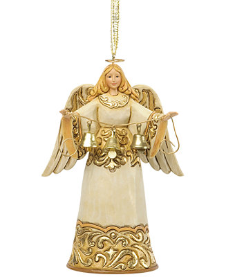 Jim Shore Ivory Amp Gold Angel Ornament Holiday Lane For