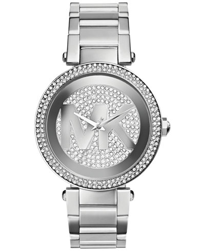 michael kors women 39 s parker stainless steel bracelet watch. Black Bedroom Furniture Sets. Home Design Ideas
