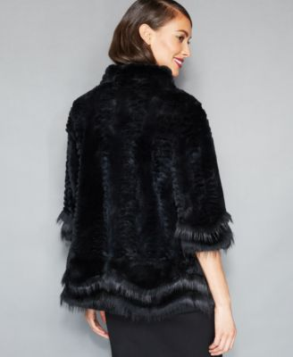 The Fur Vault Scalloped Fox-Trimmed Ra..