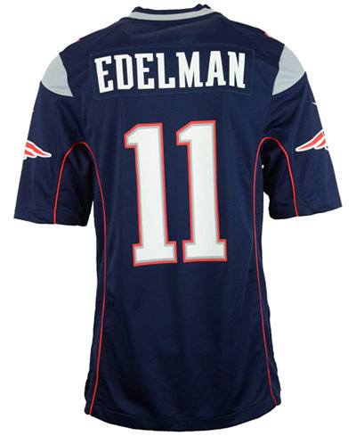 NFL Jersey's Mens New England Patriots Julian Edelman Nike Red Alternate Game Jersey
