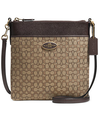 Coach North South Swingpack In Signature Fabric All