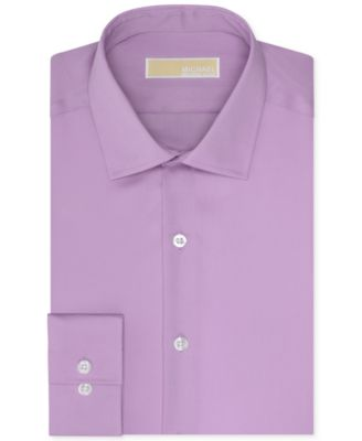 MICHAEL Michael Kors Mens Slim-Fit Non-Iron Solid Dress Shirt