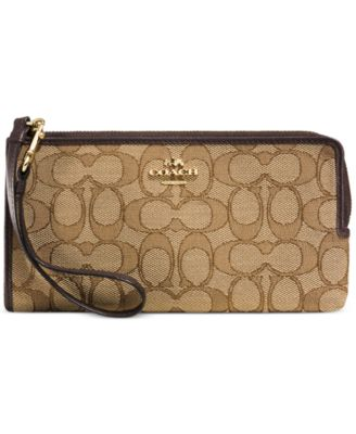 COACH Zippy Wallet in Signature Fabric