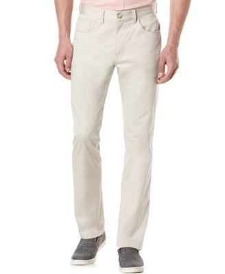Perry Ellis Mens Big and Tall Five-Pocket Sateen Stretch Pants