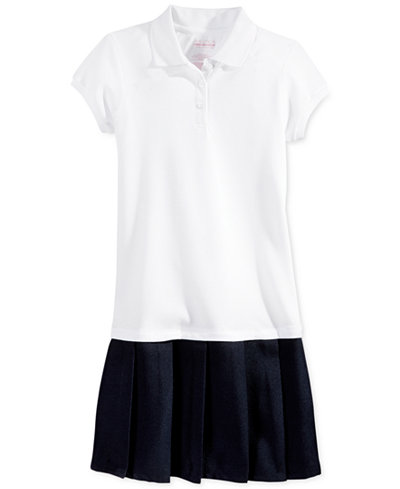 Nautica Girls Uniform Pleated Polo Dress Dresses Kids