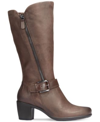 Ecco Womens Touch 55 Tall Buckle Boots