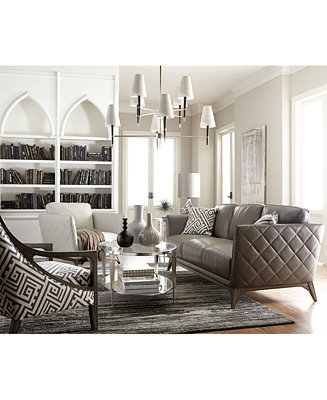 Kourtney Quilted Side Leather Sofa Collection Only At