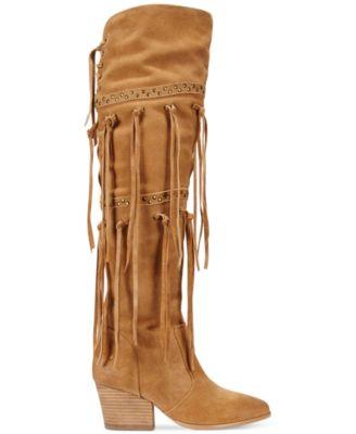 Mojo Moxy Toreador Over-the-Knee Fringe Boots