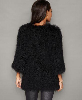 The Fur Vault Tibetan Lamb Fur Jacket