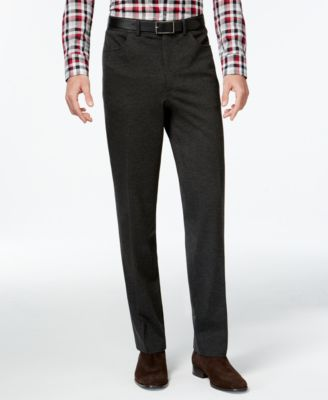 Alfani Slim-Fit Stretch Flat-Front Pants