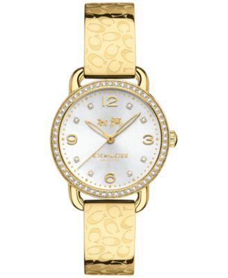 COACH WOMEN'S DELANCEY GOLD-TONE STAINLESS STEEL BRACELET WATCH 28MM 14502354