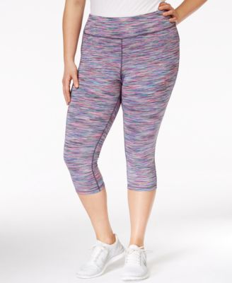 Ideology Plus Size Space-Dyed Cropped Leggings, Only at Macy's