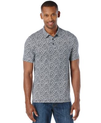 Perry Ellis Mens Big and Tall Printed Polo