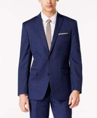 Bar III Cobalt Blue Slim-Fit Jacket