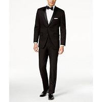 Perry Ellis Mens Portfolio Solid Slim-Fit Tuxedo (Black)