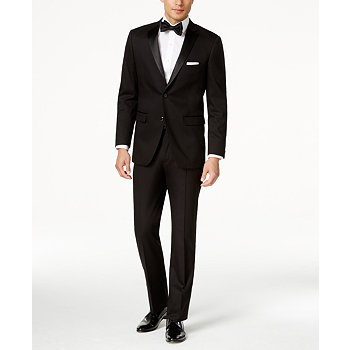 Perry Ellis Mens Portfolio Solid Slim-Fit Tuxedo