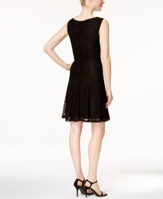 Connected Sleeveless Lace A-Line Dress