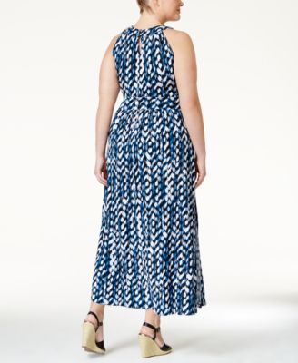 Calvin Klein Plus Size Sleeveless Printed Maxi Dress