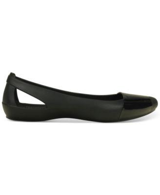 Crocs Womens Sienna Shiny Flats