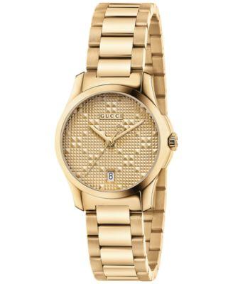 Gucci Womens Swiss G-Timeless Gold-Ton..