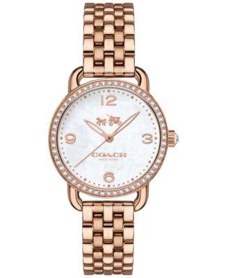 COACH Women's Delancey Rose Gold-Tone Bracelet Watch 28mm 14502479