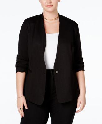 RACHEL Rachel Roy Curvy Trendy Plus Size Ponte Blazer
