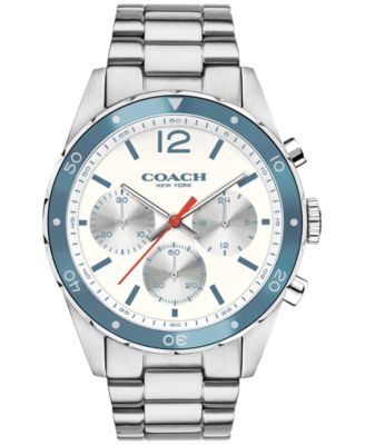 COACH Men's Chronograph Sullivan Sport Stainless Steel Bracelet Watch 44mm 14602085