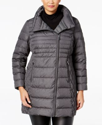 MICHAEL Michael Kors Plus Size Asymmetrical Down Coat