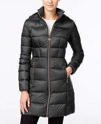 Michael Michael Kors Petite Hooded Packable Puffer Coat