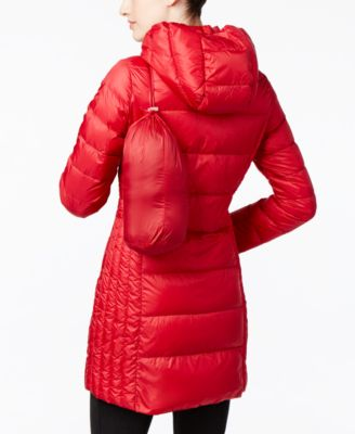 32 Degrees Packable Down Hooded Puffer Coat