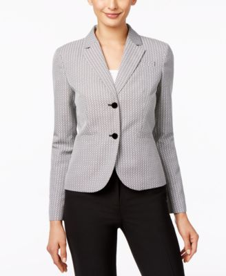 Calvin Klein Printed Two-Button Jacket