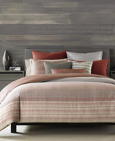 hotel collection modern geo stripe bedding collection