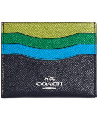 COACH Flat Card Case in Colorblock Leather