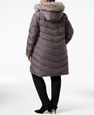 Calvin Klein Plus Size Faux-Fur-Trim Puffer Coat