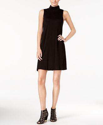 kensie Mock-Turtleneck T-Shirt Dress