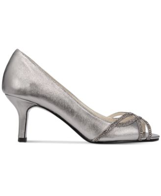Caparros Eliza Peep-Toe Evening Pumps