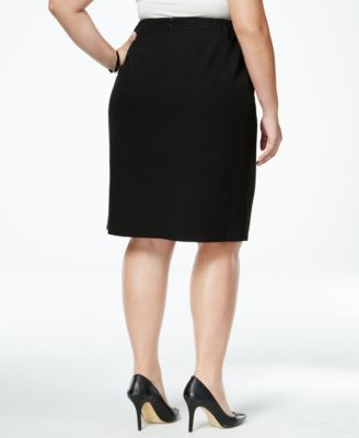 Kasper Plus Size Pencil Skirt