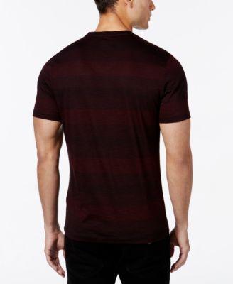 Alfani Mens Slim Striped V-Neck T-Shirt