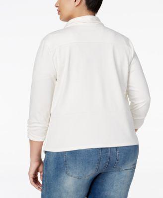 ING Plus Size Draped Blazer