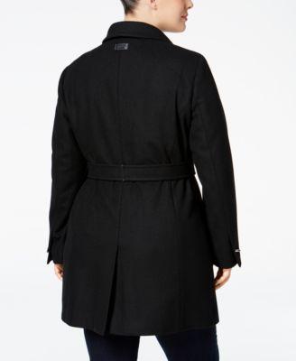 Calvin Klein Plus Size Belted Walker Coat Image