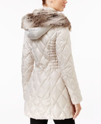 Laundry by Design Faux-Fur-Trim Quilted Puffer Coat Image