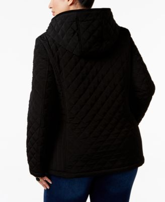 Laundry by Design Plus Size Faux-Fur-Lined Hooded Quilted Jacket Image