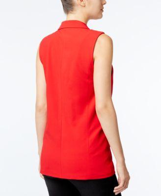 kensie Open-Front Crepe Vest