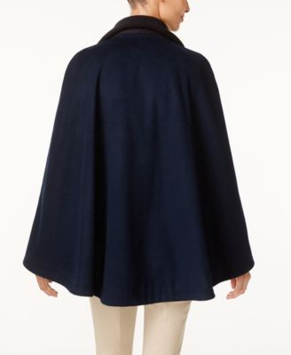 Laundry by Shelli Segal Belted Cape Coat