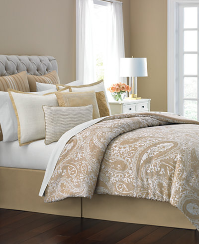 Martha Stewart Collection Gilded Paisley 10 Pc Full Comforter Set Only At M