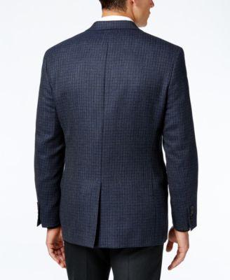 Lauren Ralph Lauren Mens Classic-Fit Blue Multi Houndstooth Sport Coat
